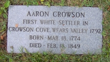 Aaron Crowson's Grave At Crowson Cemetery
