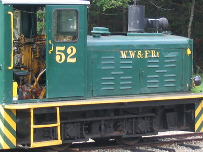 Locomotive #52 In Wiscasset And Farmington Yard