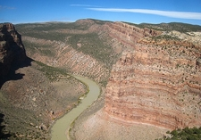 Yampa River Through Dinosaur National Monument CO