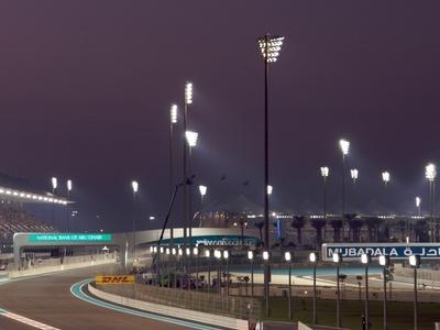 View Of Yas Marina Circuit At Night