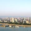 Yichang Skyline At The Yangtze River