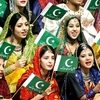 Young Girls On The Occasion Of Pakistan Day