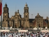 Zocalo Square With Cathedral In Mexico City