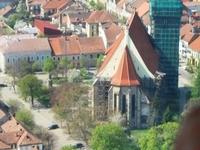 Fly Over Dracula's Golden Crowne Restaurant from Bistrita