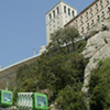 Montserrat with Cog-wheel train in the afternoon