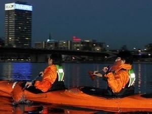 Riga chanel night kayaking tour Photos