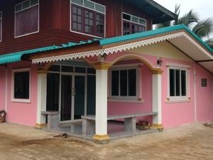 Authentic Thai village with Buddha