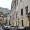 Family in the center of Prague