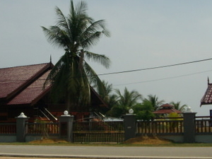 Malay traditional house near beach