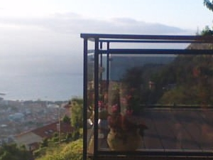 Panoramic view of sea and mountain