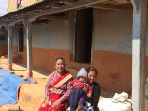 Peaceful family in Namobuddha hills