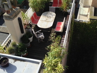 very sunny and huge terrace, enjoy