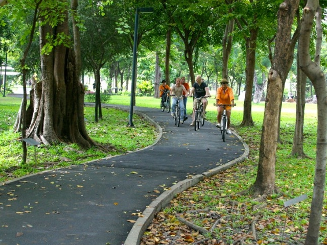 Bangkok City Culture Bicycle Ride Photos