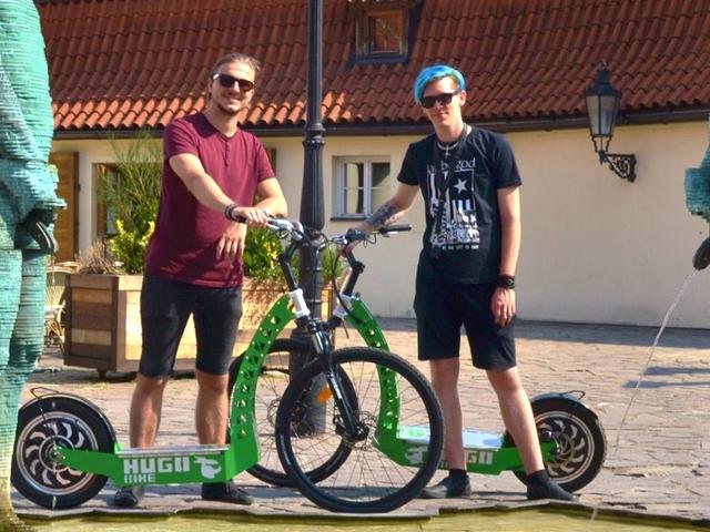 Magnificent PRAGUE Tour on E-Scooter HUGO Bike Photos