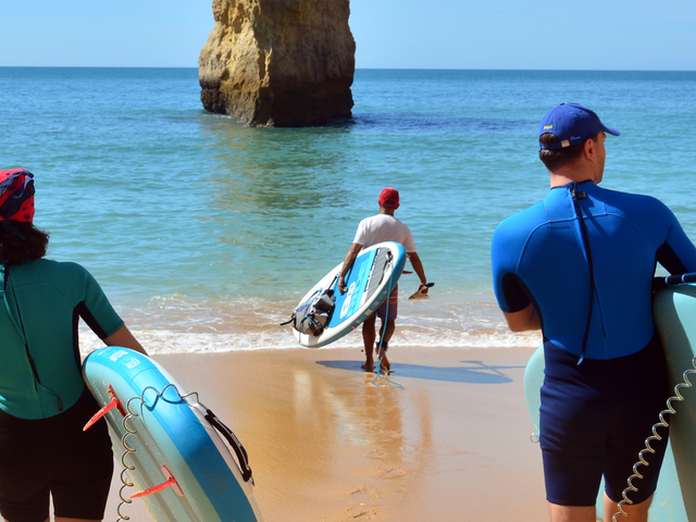 Benagil Caves Stand Up Paddleboarding Photos