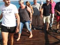 Group Along Boardwalk