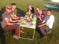 Having Dinner At Orkhon Valley