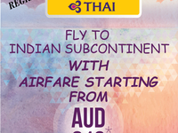 Fly To Indian Subcontinent With Starting Airfare From AUD 816*