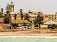 View Sea Coastline Swakopmund German Colonial Tow Town Namibia 94059529