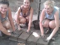 Thai Mud Hut Building