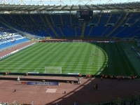 Soccer Game in Rome at Olimpic Stadium