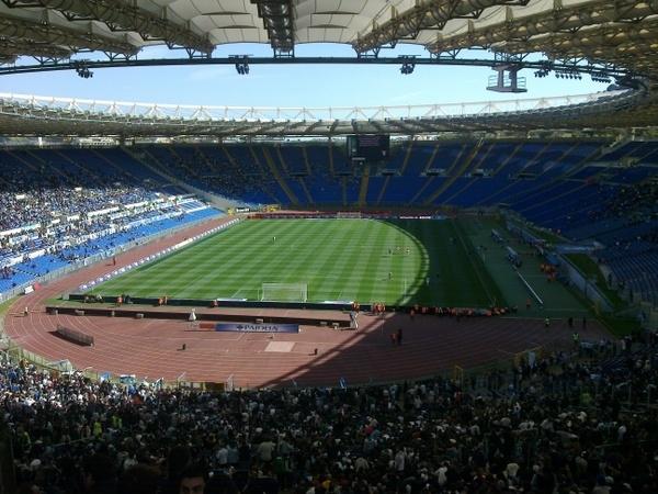 Soccer Game in Rome at Olimpic Stadium Photos
