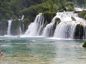 National Park Krka Waterfalls Fotos