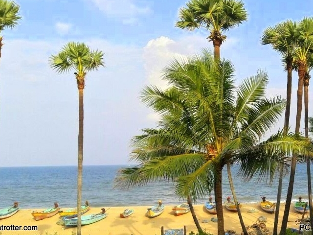 The Rocky and Cliffed Beach of Varkala and Trivandrum in Kerala Photos