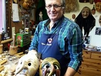 The Black Forest Mask Woodcarver We Will Visit On Our May 2018 Tour