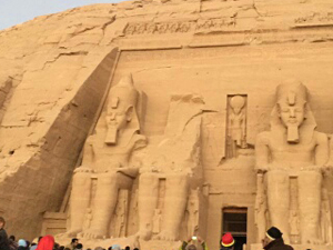The Sun Illuminate on Abu Simbel Fotos