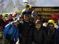 Groups At Larke-pass, Manaslu Trekking