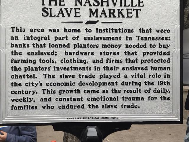 Nashville Slavery to Freedom Walking Tour Photos
