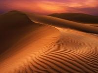 Sunset in the Empty Quarter Desert (Full Day).