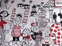 Some Artwork At Bar Of Castle House, Goa