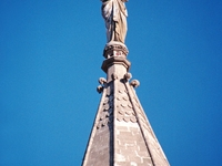 Statue Of Mercy Atop The Tower At The Bombay High Court