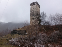Tower On The Way To Mestia