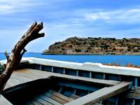 A View To Spinalonga Island From Plaka Village