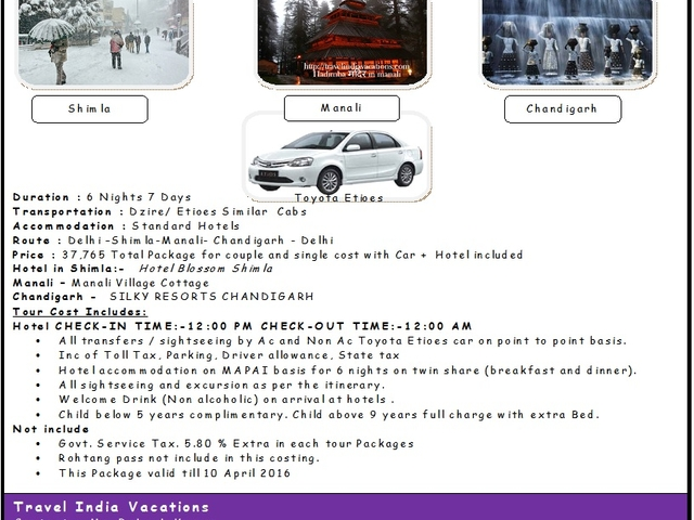 Travel India Vacations - Himachal Couple Package 09990912713 Photos
