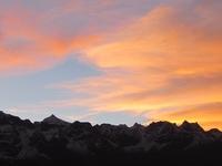 Sunrise Over Mt.Kanchendzonga Range Of Mountains