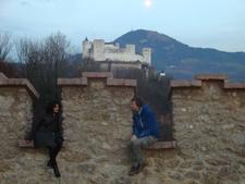Salzburg Fortress Wall With An Austrian Knight