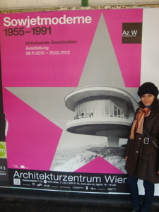 Exhibition Poster, The Exhibition Was About Soviet Modernist Architecture And Was Held In Vienna, On The Poster You Can See The Writer's House In Sevan In Armenia