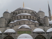 A Snowy Day At Blue Mosque