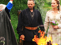 Viking Style Ceremony In Historical Site
