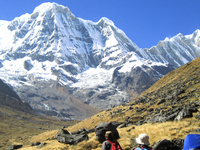 On The Way To Annapurna Base Camp Trekking