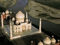 Aerial Photography Taj Mahal