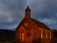 Breaking Storm Over Bodie\'s Church.