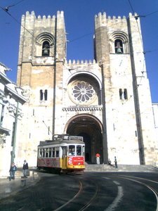 Cathedral Of Lisbon And Tram