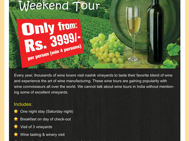 Amazing Nashik Vineyard Weekend Tour Photos