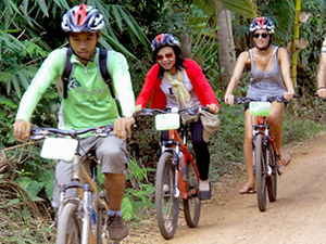 Cycling to Banteay Srei Temple Photos