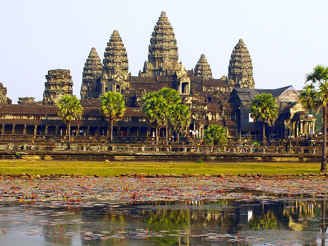 One Day at Angkor Wat Complex Photos